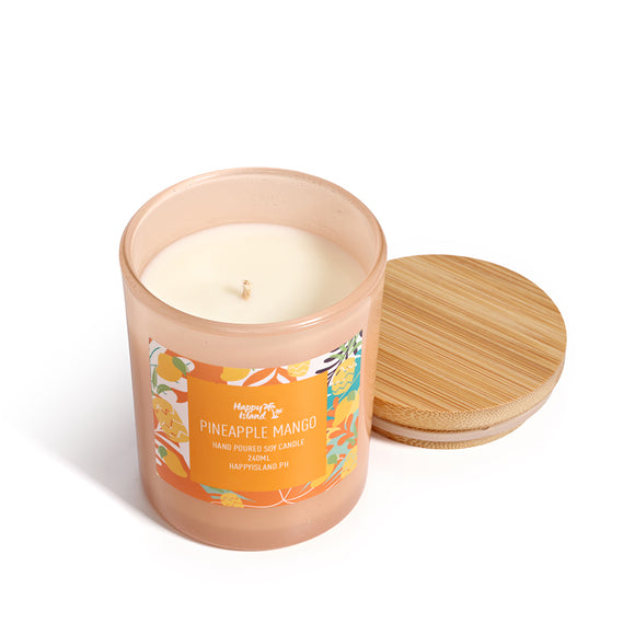 Happy Island Scented Soy Candle - PINEAPPLE MANGO