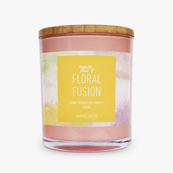 HAPPY ISLAND SCENTED SOY CANDLE - FLORAL FUSION