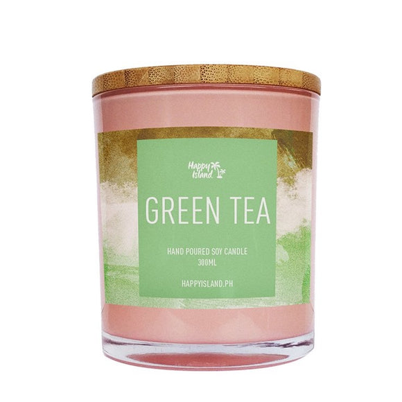 HAPPY ISLAND SCENTED SOY CANDLE - GREEN TEA