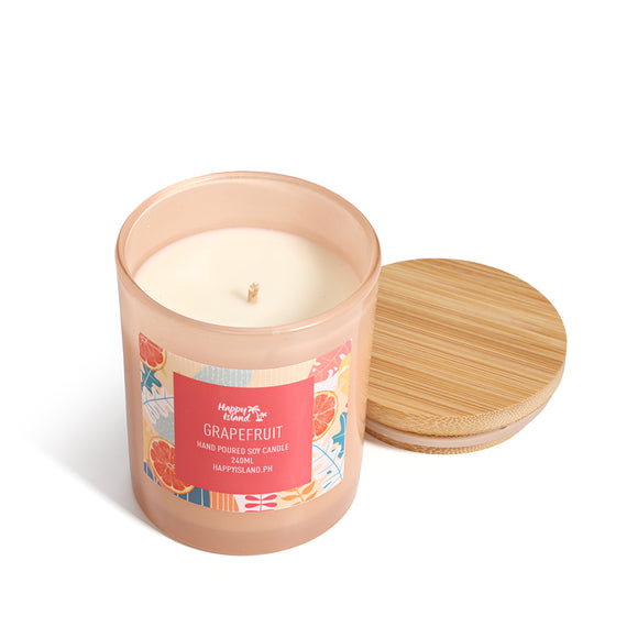 HAPPY ISLAND SCENTED SOY CANDLE - GRAPEFRUIT
