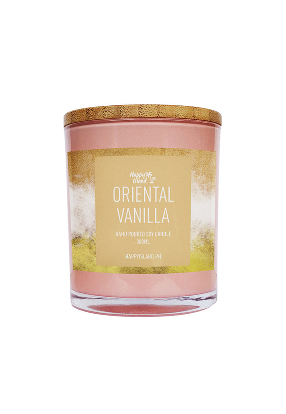 HAPPY ISLAND SCENTED SOY CANDLE - ORIENTAL VANILLA