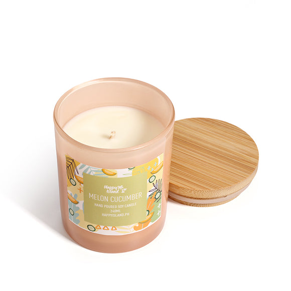HAPPY ISLAND SCENTED SOY CANDLE - Melon Cucumber