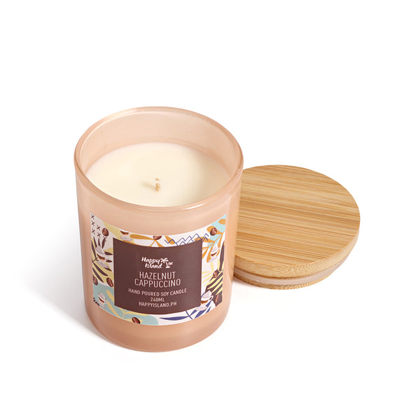 HAPPY ISLAND SCENTED SOY CANDLE - HAZELNUT CAPPUCCINO