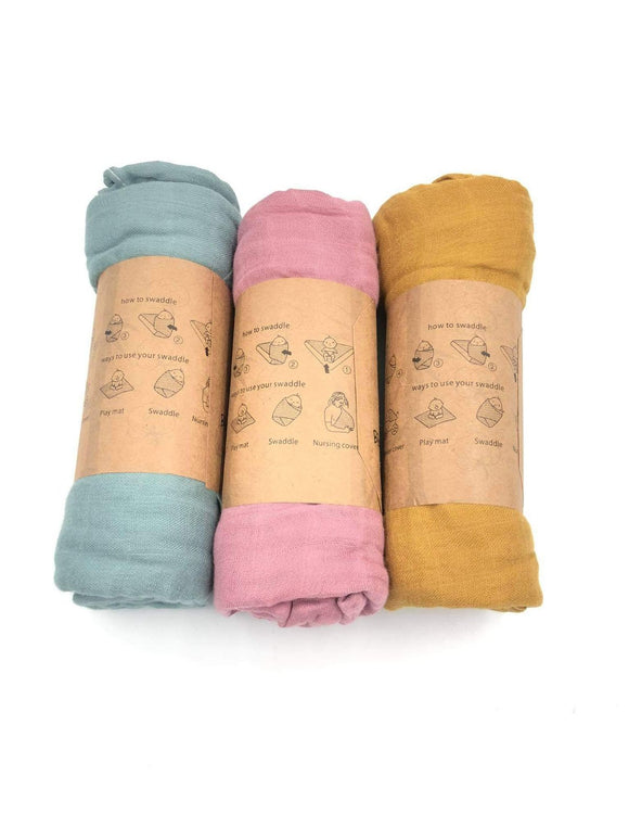 Comfy Basics Muslin Swaddle Blankets