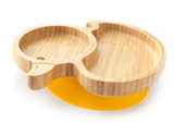 Ecorascals Bamboo Duck Plate for Baby & Toddler Lead Weaning