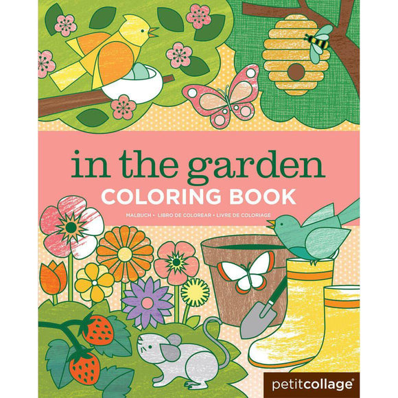 Petit Collage Coloring Book - In The Garden