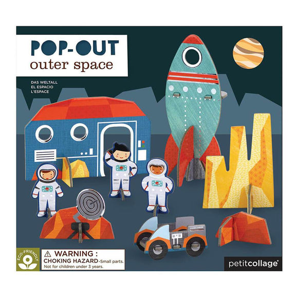 Petit Collage Pop-Out Play Set - Outer Space