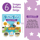 DITTY BIRD MUSICAL BOOK - NURSERY RHYMES