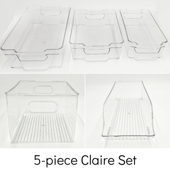 5-piece Claire Acrylic Storage Set