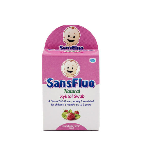 Sansfluo Natural Xylitol Swab 10 ml
