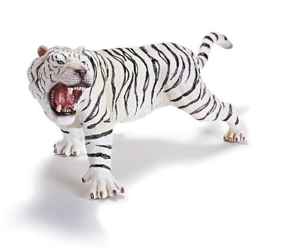 White Bengal Tiger Toy Figure