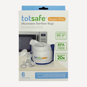 TotSafe Steam N' Go Microwave Sterilizer Bags