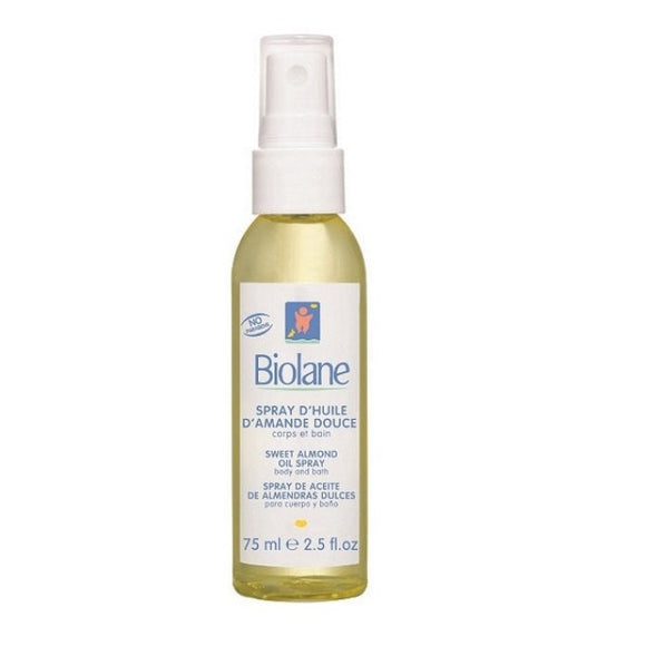 Biolane Sweet Almond Oil Spray 75ml