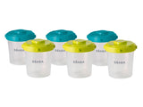 Beaba Set of 6 Clip Portions - 2nd age - 200 ml