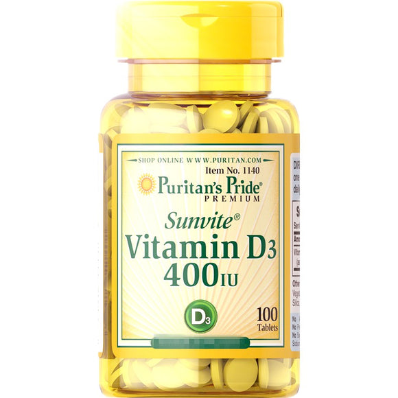 Vitamin D3 400 iu (100 softgels