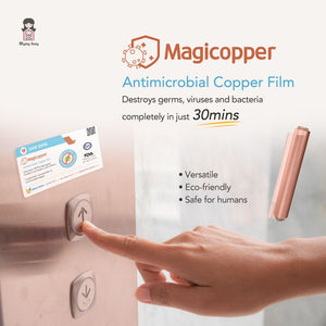 MAGICOPPER ANTIMICROBIAL COPPER FILM 10m (WITH ADHESIVE)