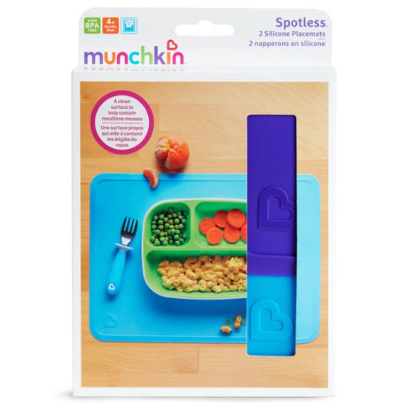 Munchkin Spotless™ Silicone Placemats - 2 Pack