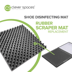 Clever Spaces Rubber Scraper Mat Replacement