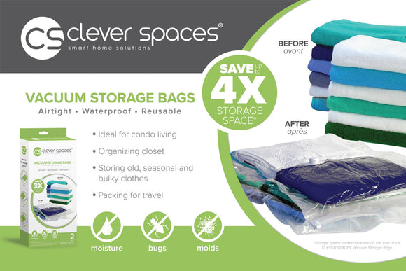 Clever Spaces Vacuum Storage Bag - Cube