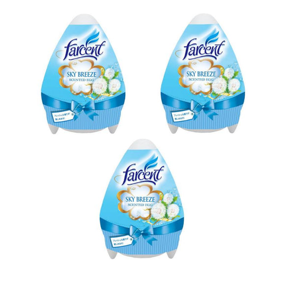 Farcent Scented Egg Gel Sky Breeze 170g (Buy 2 Get 1 Free)