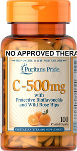 Vitamin C-500 mg with Bioflavonoids & Rose Hips 100 caplets
