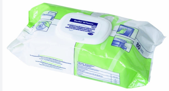 Bacillol 30 Disinfectant Wipes (Arrives last week of January)