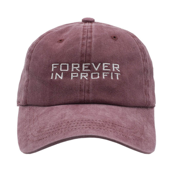 Forever In Profit Washed Dad Hat - Washed Red
