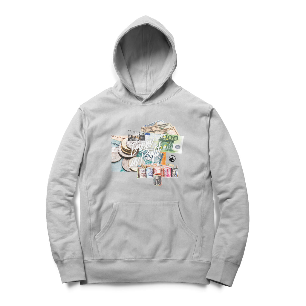 Forever In Profit Currencies Hoodie - Grey