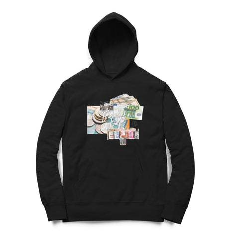 Forever In Profit Currencies Hoodie - Black