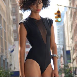 MIRAME NIGHT CAP SWIMSUIT BLACK, Women - Apparel - Swimwear - One Pieces - Haute Companie