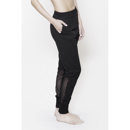 ESPALIER MESH PANEL TRACK PANTS, Women - Apparel - Pants - Trousers - Haute Companie