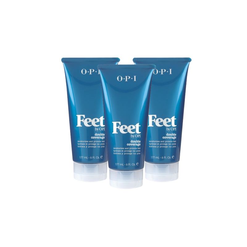 FEET BY O.P.I. DOUBLE COVERAGE 3 PACK