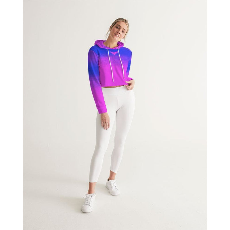 FIND YOUR COAST SUMMER ECLIPSE CROPPED LONG SLEEVE HOODIE