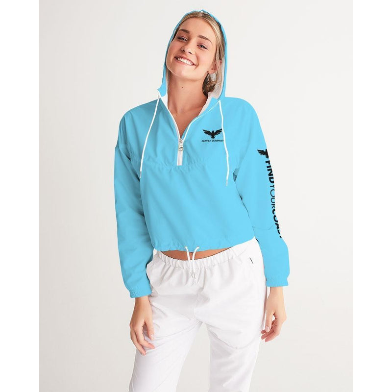 FIND YOUR COAST WATER RESISTANT LIGHTWEIGHT CROPPED WINDBREAKER