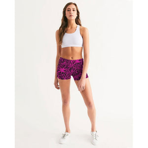 FIND YOUR COAST ACTIVE COMFORT PALM CAYE MID-RISE YOGA SHORTS, Women - Apparel - Activewear - Leggings - Haute Companie