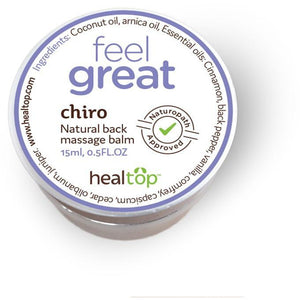 HEALTOP WELLNESS CHIRO NATURAL BACK MASSAGE BALM