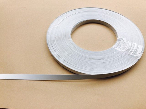 10 metres x Continuous Flat Enamelled White Sprung Steel Boning