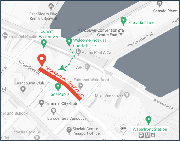 Pick-up, Drop-off Location | Livv Adventures | 884 West Cordova Street, Vancouver