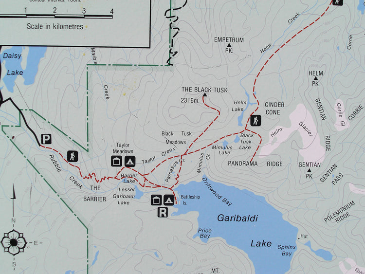Garibaldi Lake hike map - Livv Adventures