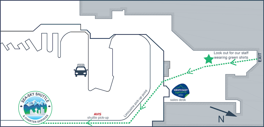 Vancouver Canada-Place Cruise Ship Terminal Map Transfer from Cruise Ship Terminal to Vancouver Airport Hotels