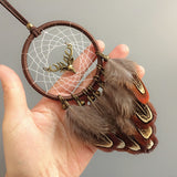 Dream Catcher With Elk, Jingle Bells and Feathers