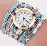 Flower Gemstone Bracelet Watch