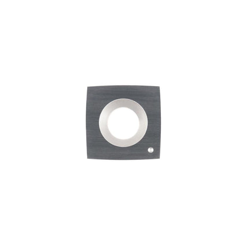 Square Carbide Insert - 14.3 x 14.3 x 2.5 mm - 100 mm radius face - Woodturning Cutter Top