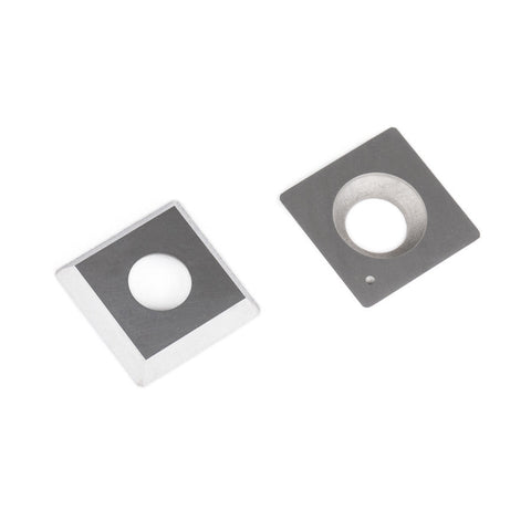 15mm x 15mm x 2.5mm - 4-edge - Radius Corners - Carbide Insert Knife
