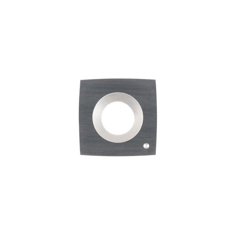 Square Carbide Insert - 15 x 15 x 2.5 mm - 100 mm radius face - Woodturning Cutter Top