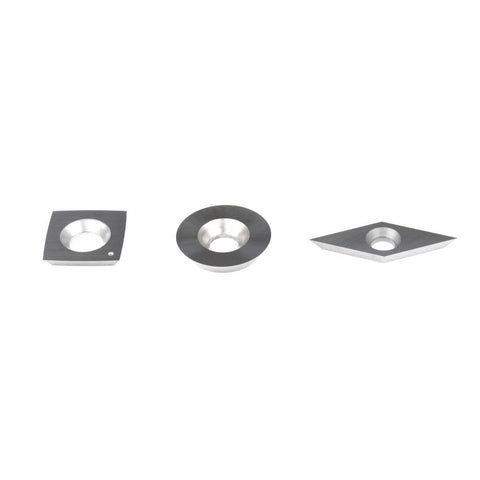 Insert Kit 1 - Woodturning Cutters - square with radius faces, round, diamond shape