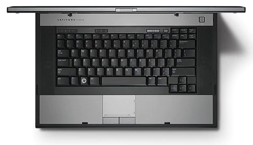 Dell Latitude E5510 Laptop top view keyboard