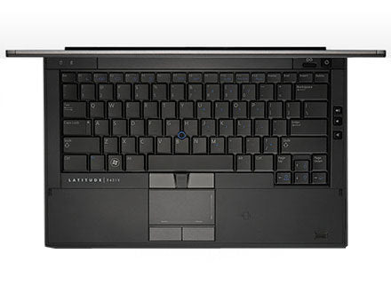 Dell Latitude E4310 top view keyboard fingerprint