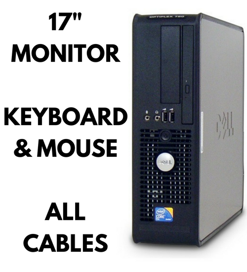 Groovy Complete Bundle Dell Optiplex 780 Dual Core 2 Duo 17 Monitor Keyboard Mouse All Cables Best Image Libraries Counlowcountryjoecom