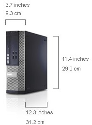 Dell Optiplex 3010 Small Form Factor Dimensions
